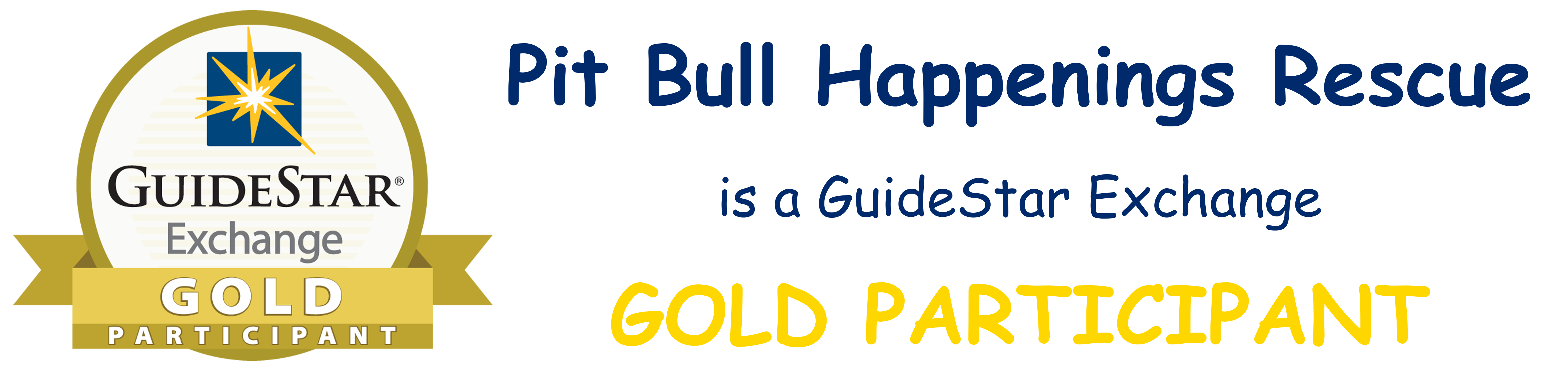 Pit Bull Happenings Rescue is a GuideStar Exchange Gold Participant